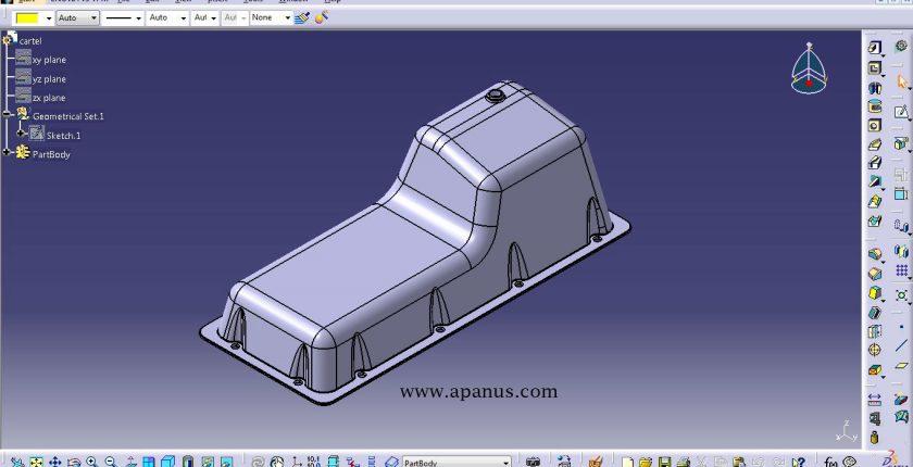 آموزش محیط طراحی سه بعدی Part Design در کتیا