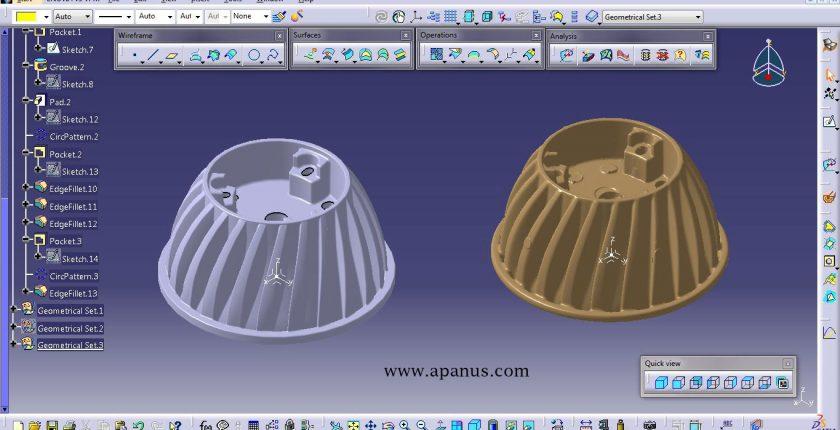 آموزش کتیا - محیط مهندسی معکوس Digitized shape editor