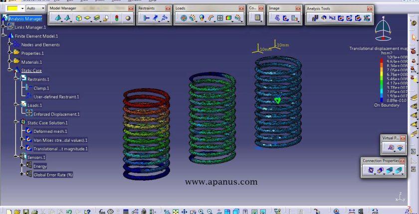 آموزش کتیا - تحلیل المان محدود Generative structure analysis