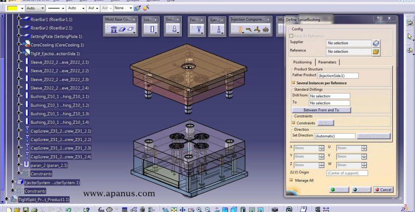 آموزش کتیا - طراحی قالب Mold tooling design