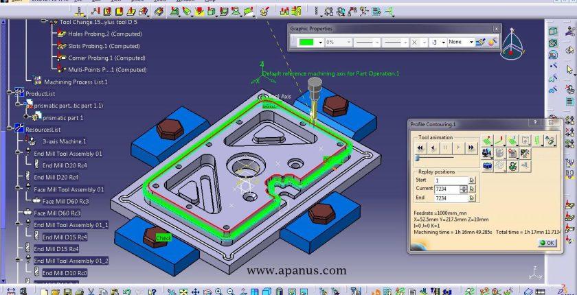 آموزش ماشین کاری با کتیا - محیط prismatic machining