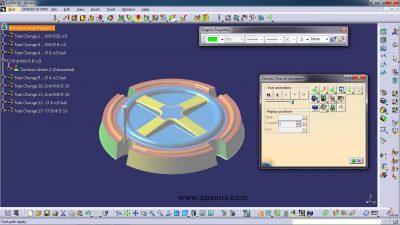 آموزش ماشین کاری با کتیا - محیط فرزکاری سه محور Surface machining