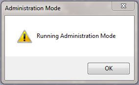 running Administration Mode