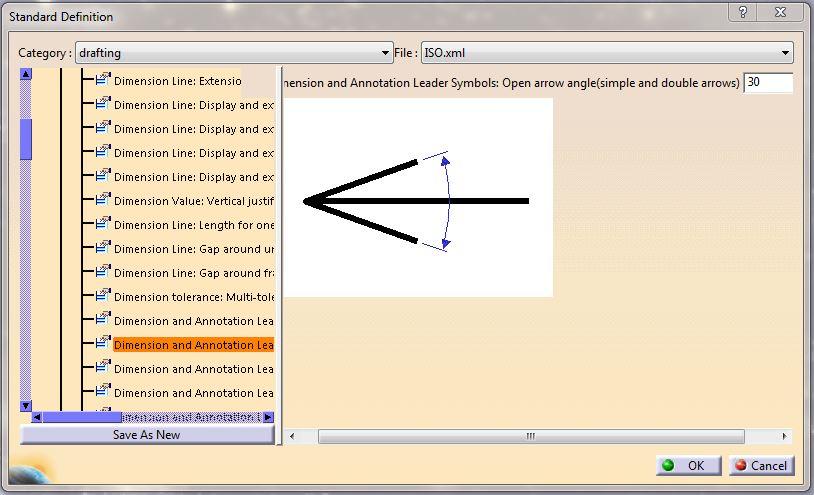 تغییر استاندارد نقشه کشی در محیط درفتینگ drafting کتیا
