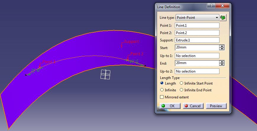 ابزار Line در طراحی سه بعدی