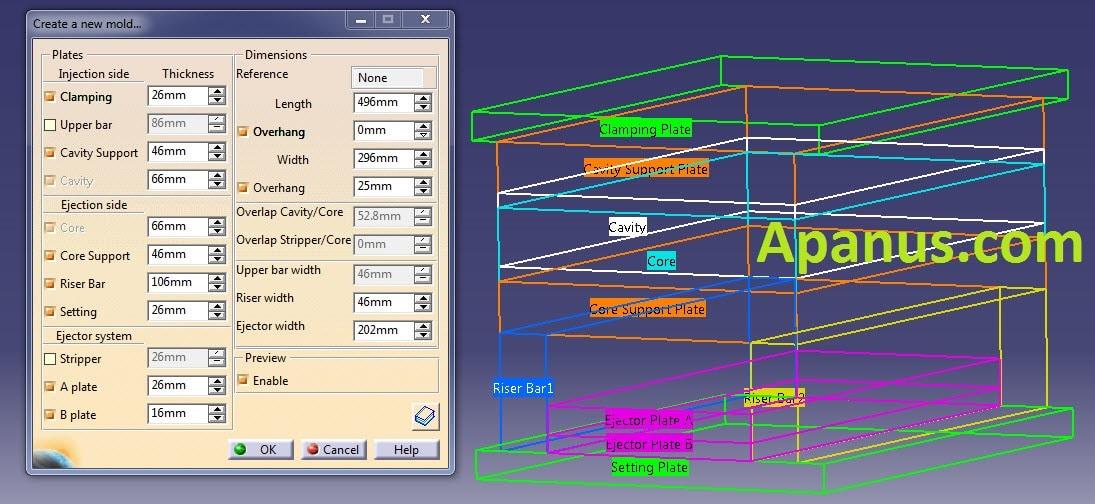 طراحی قالب قطعه در Mold Tooling Design کتیا