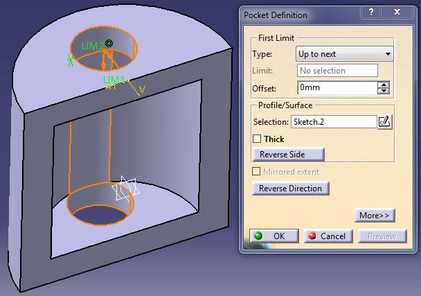 ابزار Pocket در Part Design