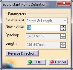 Equidistant Point در اسکچر کتیا
