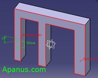 ابزار Plane در طراحی سه بعدی کتیا
