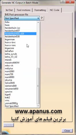 خروجی جی کد (G-code) گیری در کتیا