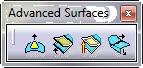 جعبه ابزار Advanced Surfaces کتیا