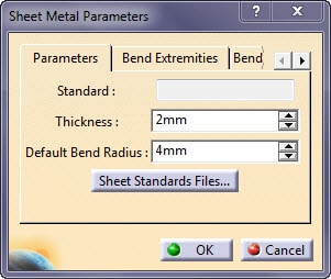 پارامترهای ورقکاری SheetMetal کتیا
