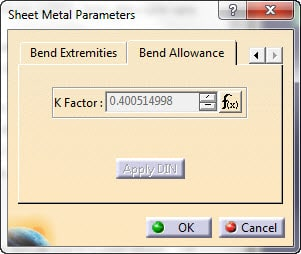 k factor در شیت متال کتیا