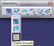 ابزار Curve Smooth در نرم افزار کتیا