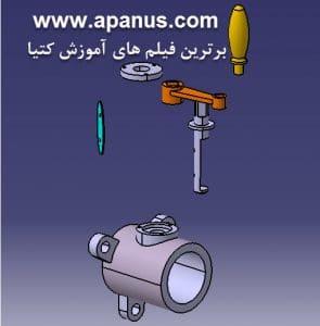 ابزار Explode نقشه انفجاری قطعات در محیط Assembly کتیا