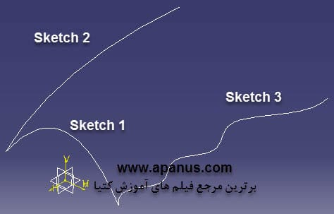 ابزار Sweep حالت With two guide curves