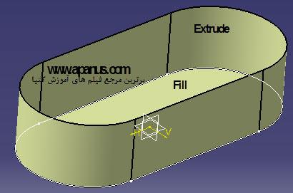 سطوح با ابزارهای متفاوت Extrude و Fill