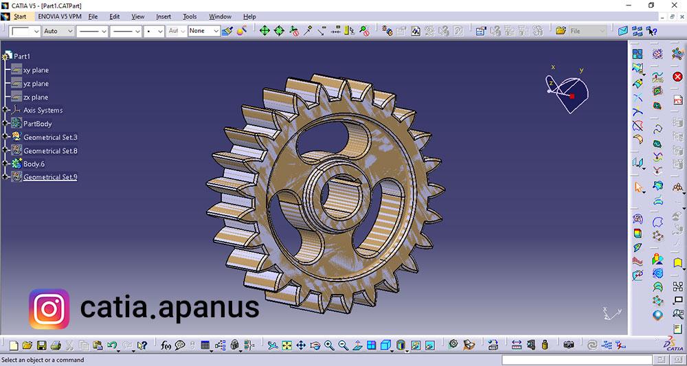 طراحی چرخدنده با نرم افزار کتیا