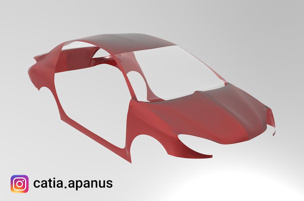 طراحی بدنه خودرو با نرم افزار کتیا